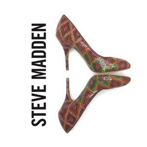 Steve Madden Smartyy Aztec Colorful Pumps Size 7